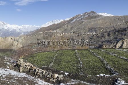 landscape of muktinath village in lower