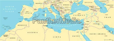 mediterranean basin political map