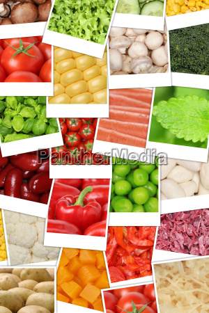 vegan and vegetarian background from vegetables