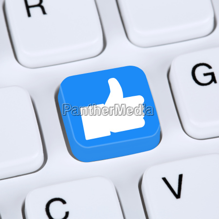 internet concept like button thumbs up