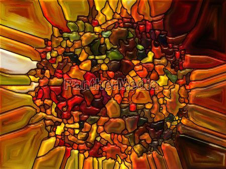 petals of stained glass