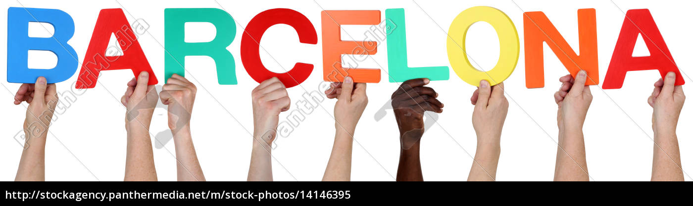 multicultural, people, group, holding, the, word - 14146395