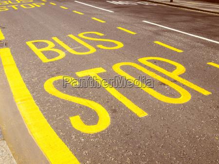 retro look bus stop