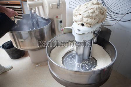 kneading dough for bread