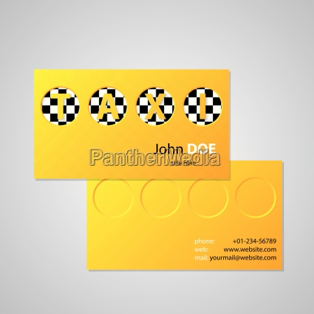 taxi business card design with cutout