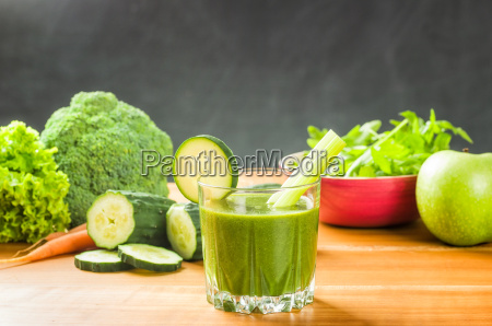 smoothie with fresh ingredients from the