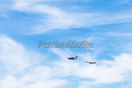 air refueling of strategic bomber airplane