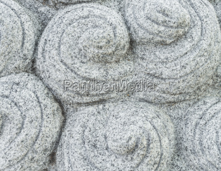 chinese carved gray stone with round