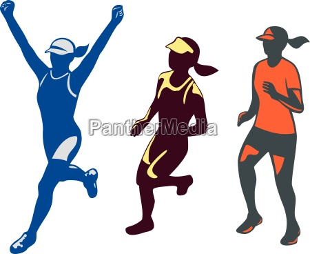 female triathlete marathon runner collection