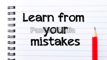learn from your mistakes text written
