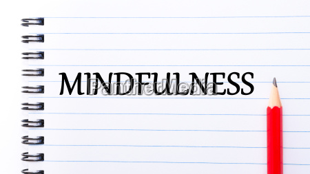 mindfulness text written on notebook page