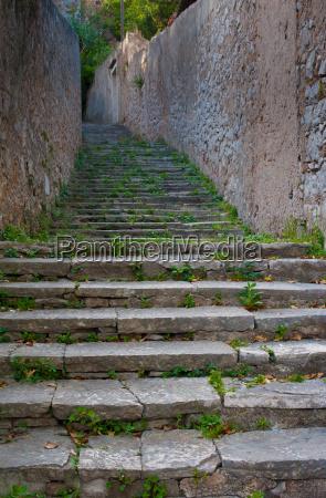ancient mediterranean stairs