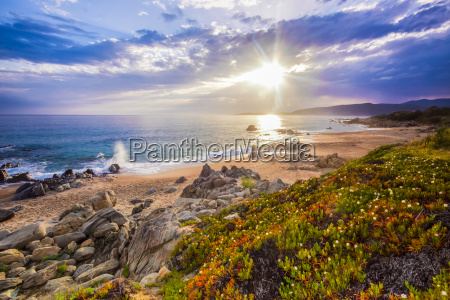 coastal landscape on corse france europe