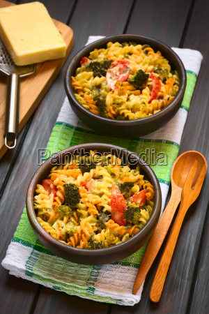 baked pasta and vegetable casserole