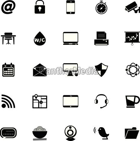 internet cafe icons on white background