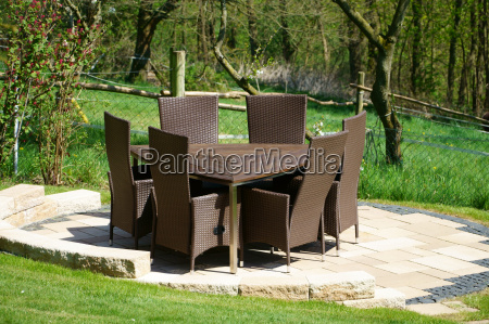 garden furniture of rattan