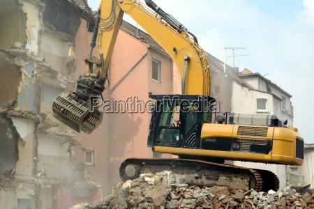 with demolition track excavator
