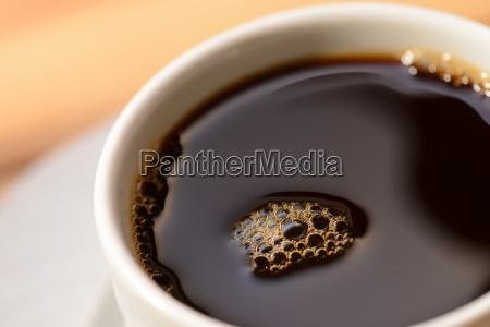 black coffee in a cup close