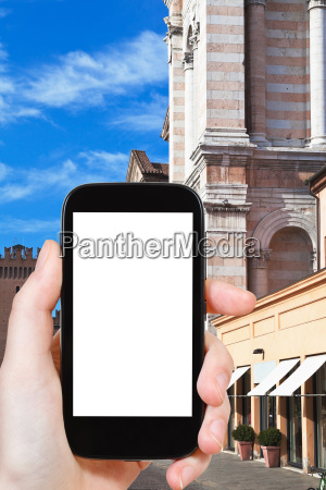 tourist photographs of cathedral in ferrara
