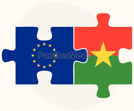 european union and burkina faso flags