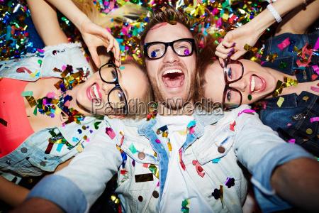 selfie in nightclub