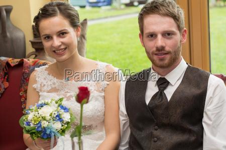 romantic bridal couple