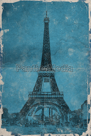 eiffel tower paris vintage graphics