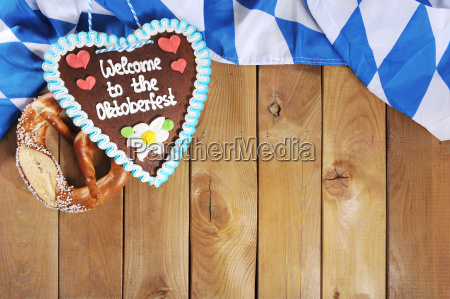 bavarian pretzel with gingerbread heart