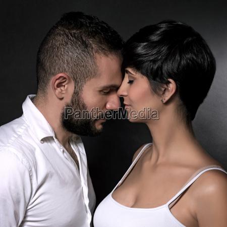 gentle loving couple