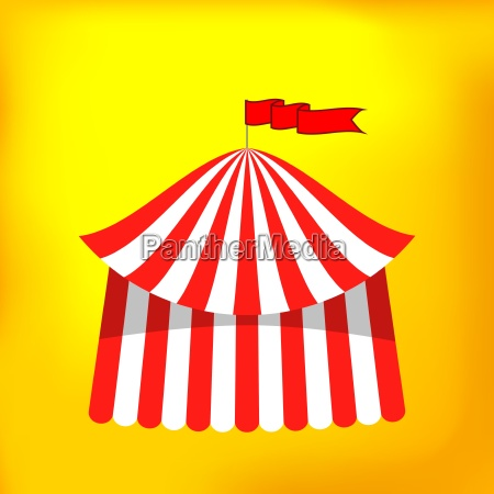 circus tent icon isolated on yellow