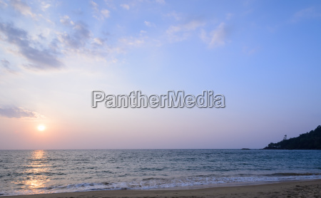 colorful sunset at khao lak