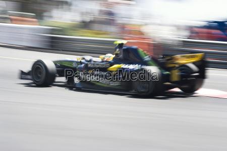 formula 1 car with motion blur