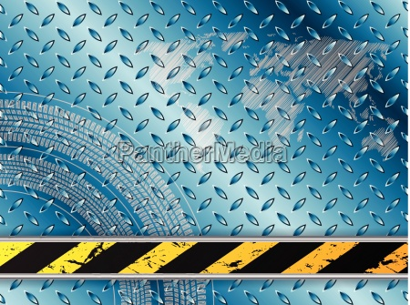 industrial background in blue with tire