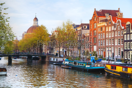 city view of amsterdam the netherlands