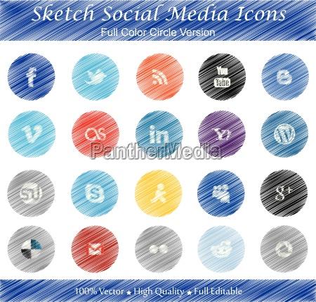 sketch social media badges full