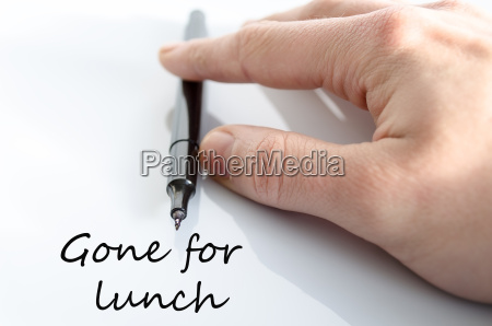 gone for lunch concept