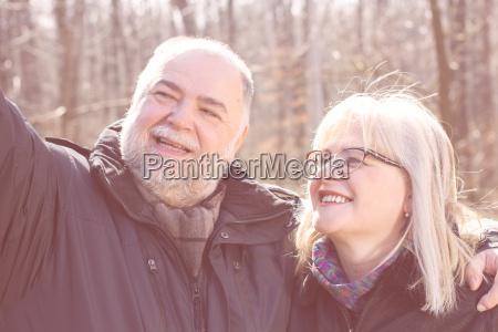 happy senior elderly couple old people