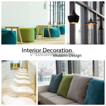 interior decoration modern design collection set