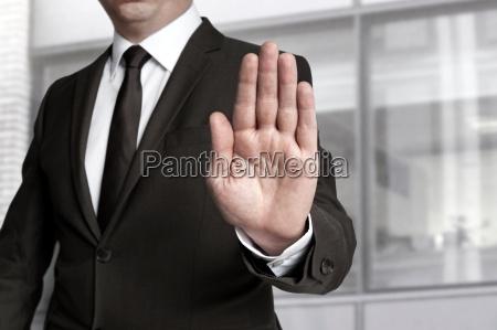 handstop viste af forretningsmanden