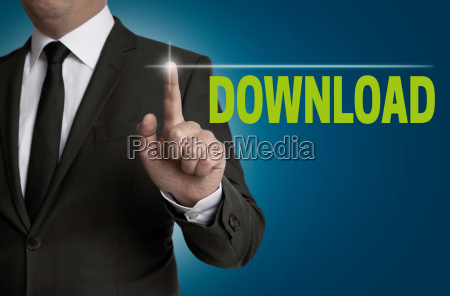 download touchsreen is served by businessman
