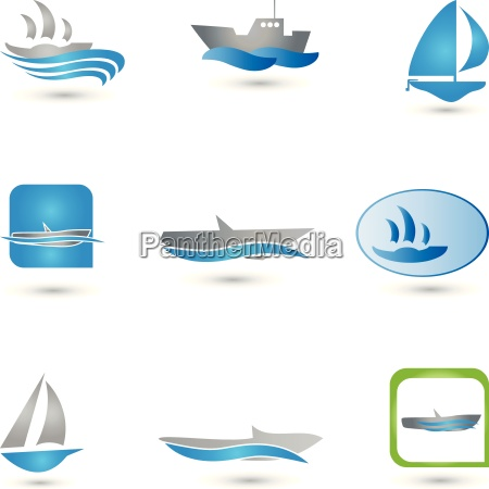 boats logos collection vessels