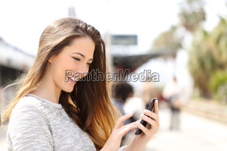 girl texting on a smart phone