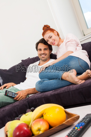 young love couple sitting in the