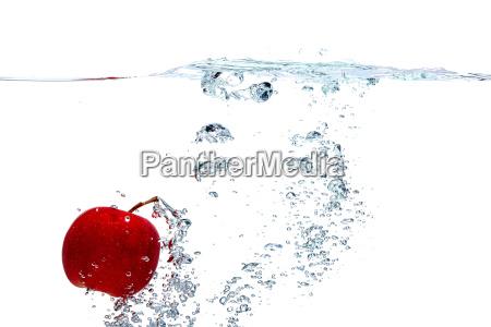 apple falls deeply under water