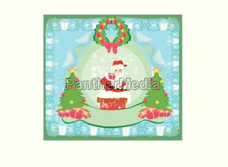 christmas greeting card funny santa