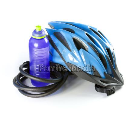 a biking helmet against a white