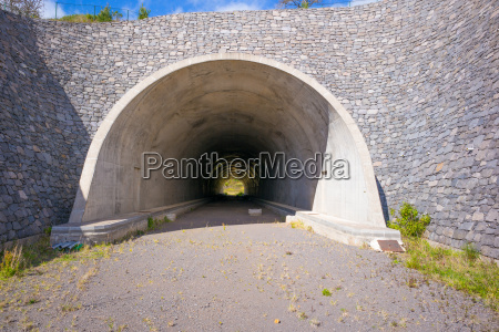 in half finished tunnel with a