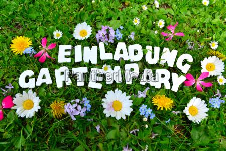 garden party garden party text