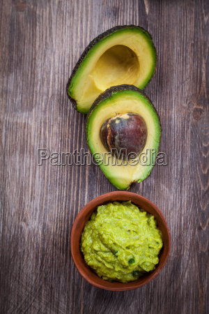 guacamole with avocado