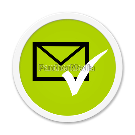 round button shows envelope and hook